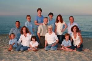 Family photo on Nauset Beach